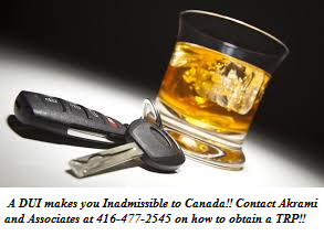 travelling-to-canada-with-DUI-and-TRP